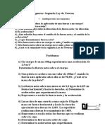 Preguntas y Problemas 2da Ley de Newton