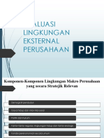 Evaluasi Lingkungan Eksternal Perusahaan