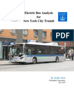 Electric Bus Analysis for NYC Transit by J Aber Columbia University - May 2016