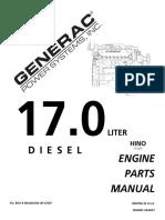 HİNO 17L Diesel Engine Parts Manual PN 0D4337