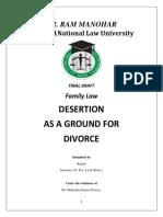 Desertion as Ground for Divorce