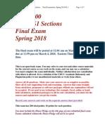 STAT 200 Common Final Spring 2018 OL1