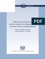 Derecho Economico Ariete Contra Los Oligopolios y Escudo de Los Consumidores