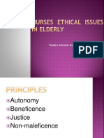 Ethical Issues in Elderly for Nurses