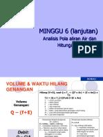 Bab 6. HIDROLOGI (Analisis Pola Aliran AirDan Hitungan Genangan)