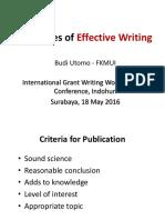 INDOHUN - Principles of Effective Writing (Prof Budi Utomo)