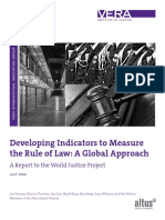 Developing Indicators to Measure the Rule of Law Online Version2