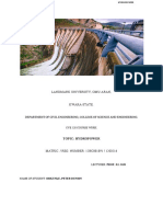 Course Work Hydropower