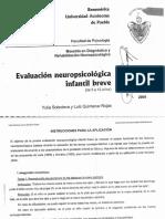 Evaluación NPInfantil Instrumento
