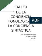 Taller de Conciencia Fonológica