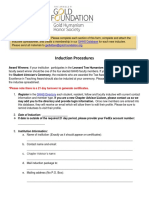 Induction Procedure Form 2017