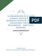 Tema -Organizacion de La Union Europea