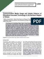 Communication Media Usage and Uptake Patterns of Rhizobium Inoculant Technology in the Northern Region of Ghana