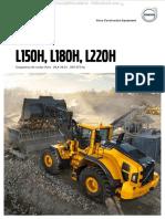 Catalogo Cargadores Frontales l150h l180h l220h Volvo Datos Caracteristicas Detalles Especificaciones Dimensiones Equipo