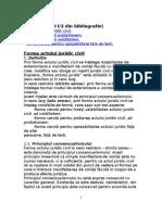 I.2 - Forma Actului Juridic Civil