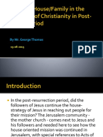 Role of House Family In Expansion of Christianity After Easter