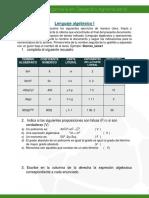 Lenguaje Algebraico I (3)
