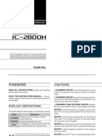 Icom IC-2800H Instruction Manual