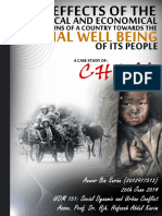 The Effects of the Political and Economical Conditions of a Country Towards the Social Well Being of Its People - A Case Study of China