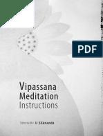 924. Vipassana Meditation Instructions - Venerable Ashin Silanandabhivamsa