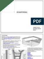 Dewatering