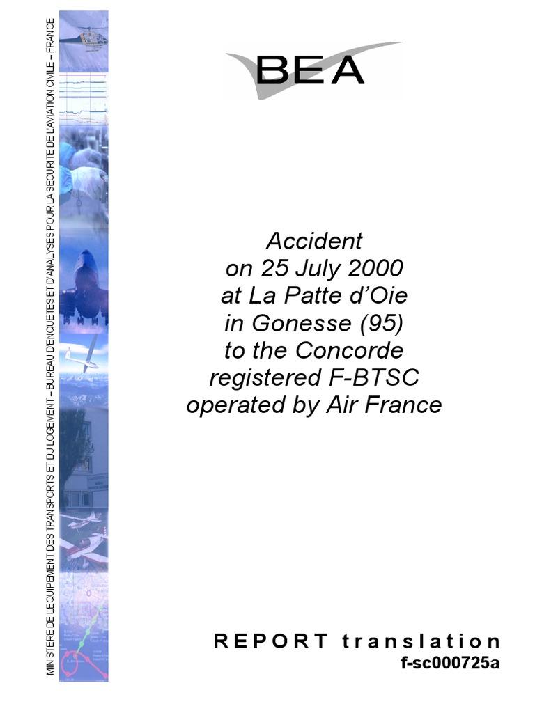 Concorde Accident Report Flight Recorder