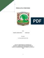 CSS Persalinan Preterm
