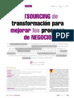 Outsourcing de Transformacion Para Mejorar Los Procesos de Negocio