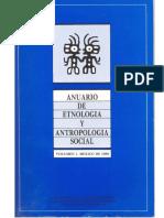 Anuario de Etnología Antropología Social. Volumen 1