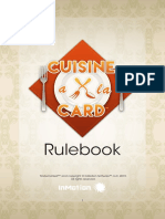 Cuisine a La Card Rulebook