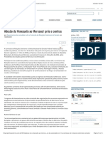 Adesão da Venezuela ao Mercosul_ prós e contras » Política Externa