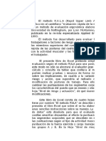 Excel Método Rula