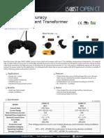 J&D Transformateur de Courant Ouvrant 25a 10ma Compteur Energie Com
