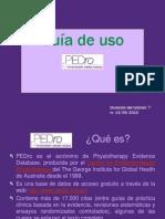 PEDro - Guía de uso