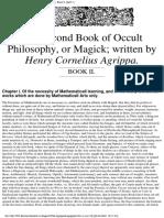 Three Books of Occult Philosophy, Book 2 - Henry Cornelius Agrippa