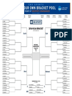 2018 NCAA Tournament bracket