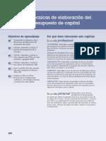 Evaluacion Financiera de Proyectos Cap. 10 Gitman