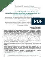 Aplicação Do Tourism Ecological Footprint Method Para Avaliação Dos Impactos Ambientais Do Turismo Em Ilhas Um Estudo Em Fernando de Noronha