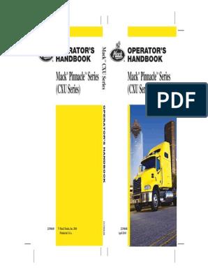 2010 US Mack Pinnacle Series (CXU Series) Operator's Manual   Truck Mack Pinnacle Inter Axle Wiring Diagram on