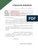 Carta de Renuncia en Peru Blanco