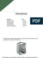 Elevadores - Slides