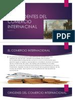 Antecedentes Del Comercio Internacinal