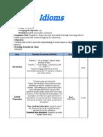 idioms lesson plan