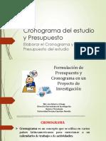 CLASE 6 Cronograma del estudio y Presupuesto.pptx