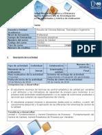Guía de Actividades y Rúbrica de Evaluación - Fase 2-Control Estadístico de Procesos Por Variables