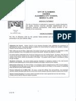 Alhambra City Council agenda - March 12, 2018