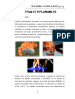 Seguridad industrial materiales inflamables