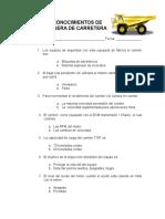 Prueba de Conocimientos Del Camion Caterpillar 785c
