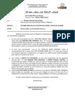 Informe Nº 001- Set.