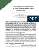 Analisa Perbandingan Kekuatan Lentur Pada Plate Container Dari Bottle Opener Menggunakan Software Solidworks 2013